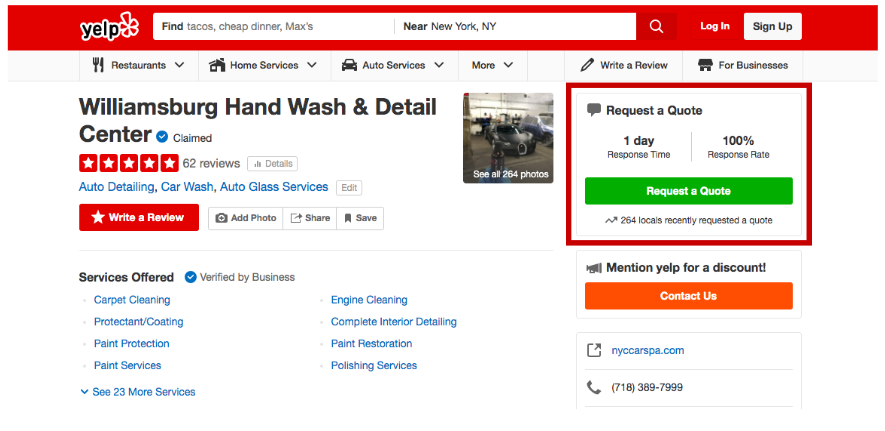 Scrape Business Information from Yelp